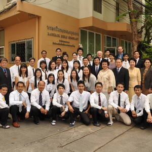 Faculty & students at Bangkok Bible Seminary